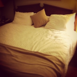 I have a compulsion to remake the hotel bed every morning, even though housekeeping will come do it later...
