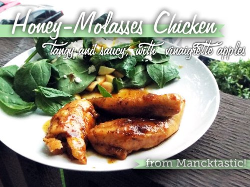 Saucy, Tangy Honey Molasses Chicken from Mancktastic!
