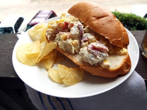 Picnic Ready Sweet Corn and Bacon Chicken Salad from Mancktastic! at mancktastic.wordpress.com