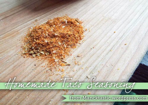 Homemade Taco Seasoning from Mancktastic!