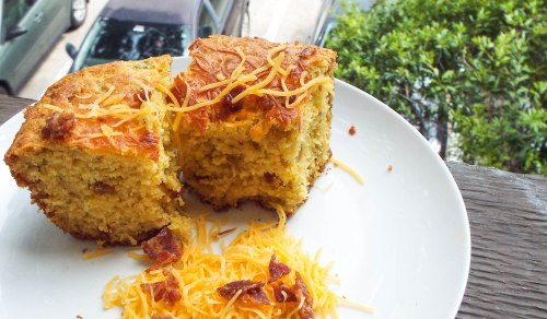 Cheddar-Bacon-Chile Cornbread from Mancktastic! at mancktastic.wordpress.com