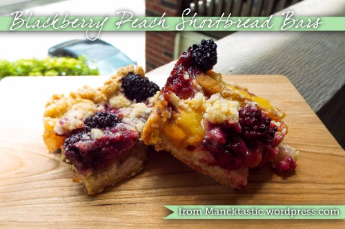 Blackberry-Peach Shortbread Bars from Mancktastic! at mancktastic.wordpress.com