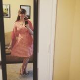 LOVE this faux-wrap dress!